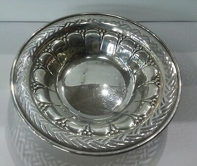 Gorham Sterling Pierced & Reticulated Nut/Candy Dish Pattern 106