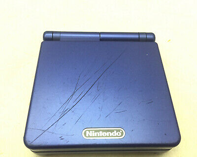 Nintendo Game Boy Advance GBA SP Cobalt Blue Handheld System Console Only TESTED