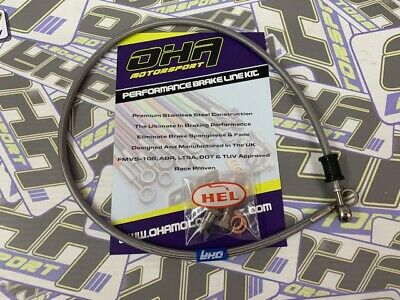 OHA Stainless Steel Braided Front Brake Line Hose for Suzuki GS500 1995-2002
