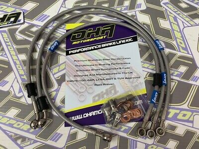 OHA Stainless Steel Braided Front & Rear Brake Lines for Ducati 1098 2007 2008