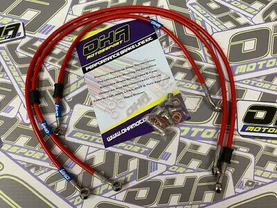 OHA Stainless Steel Braided Front & Rear Brake Lines fr Yamaha XJR1300 2002-2016