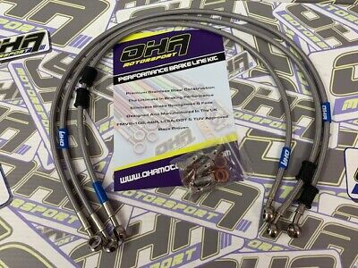 OHA Stainless Braided Front & Rear Brake Lines for Suzuki Bandit 1200 1996-2000