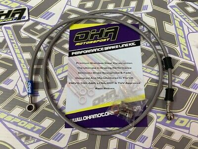 OHA Stainless Braided Clutch Line Hose Kit for Suzuki GSF Bandit 1200 1996-2000