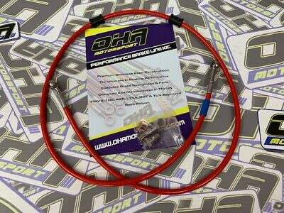OHA Stainless Braided Clutch Line Hose Kit for Yamaha XJR1300 1999-2016 NEW