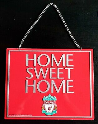 LIVERPOOL FC HOME SWEET HOME METAL SIGN Official Club Merchandise