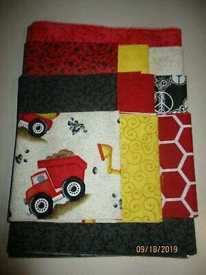 Awesome Fun Trucks Disappearing 9 Patch Baby Boy Quilt Complete Kit