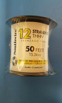 Insulated Wire,12 AWG,20 AMP,Stranded THHN,50 Feet,15.24 m,White,Stranded Copper