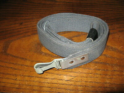 East German gray cotton web rifle sling with steel hook hardware sks