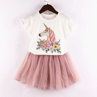 Girls 2 Piece Unicorn Skirt And T-shirt Outfit - BNWT