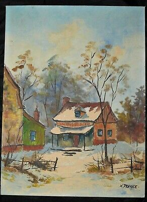 Vintage Walter Pranke (1925) Listed Canadian Artist Original Oil Painting Signed