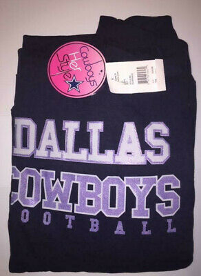 Women's Dallas Cowboys Majestic Navy Glitter Pullover Hoodie Plus Size New NWT