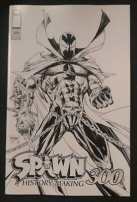 SPAWN 300 COVER B B&W SKETCH VARIANT NM TODD McFARLANE