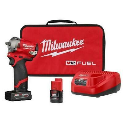 Milwaukee 2554-22 M12 FUEL 3/8  12-Volt  Impact Wrench Kit with Batteries