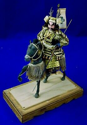 Antique Japanese Japan Samurai Warrior Musha Armor Yoroi Doll Uma Horse