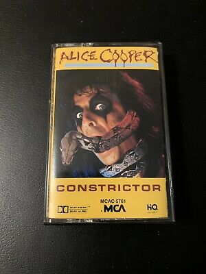 Alice Cooper Constrictor Cassette Tape In Very Good Condition