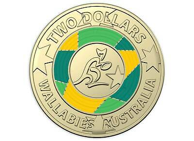 2019 $2 Wallabies Coin Rugby World Cup Two Dollar Unc Coin & Folder