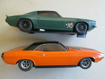 Scalextric slot car 1/32 x2 from Fast Furious Dodge Challenger Chevrolet Camaro