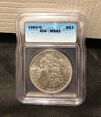 +++ 90% Silver Morgan Dollar 1883 O ICG Graded MS 63 Uncirculated US Coin +++