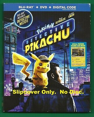Pokemon Detective Pikachu SLIPCOVER ONLY fits blu-ray case