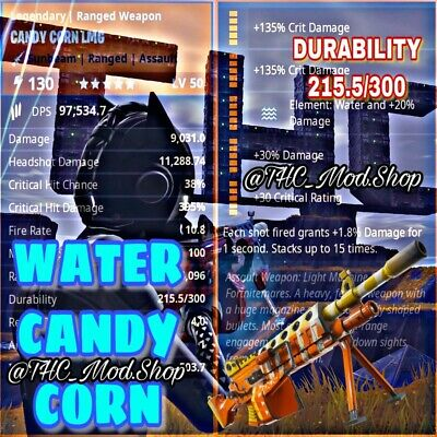 Water Candy Corn LMG 💦🍬🌽 - Fortnite Save The World