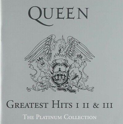 Greatest Hits I II & III: The Platinum Collection di Queen (CD, 2011, 3 Dischi,