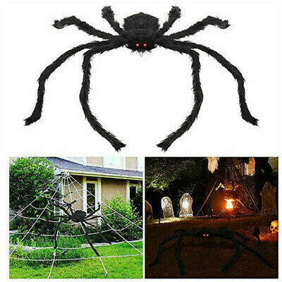 5FT/150cm Hairy Giant Spider Decoration Halloween Prop Haunted Room Decor Party