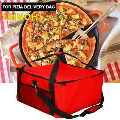 16 inch pizza delivery bag red insulated hot food storage holder holding pizza