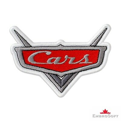 """Cars Logo Cute Funny Cartoon Embroidered Patch Iron / Sew On SIZE: 3.9""""x2.8"""""""