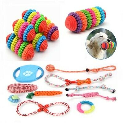 Funny Soft Pet Puppy Chew Toys Teething Dental Healthy Treat Clean Toy Squeaker
