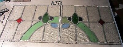 A776   Pair    Stained Glass Ca 1900s
