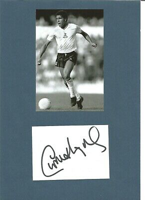 Chris Hughton signed 4x3 inch autograph card attached to A4 page Footballer EL60