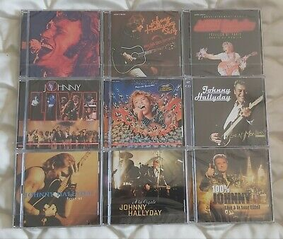 Johnny-Hallyday. Lot De Cds Live En  Etat Neuf Scelle
