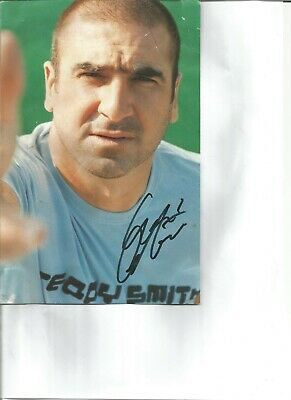 Eric Cantona signed 10x6 inch colour magazine photo,   football player EL92