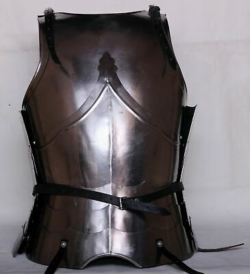 18GA Steel Larp Medieval Armor Cuirass Battle Knight Breastplate Costume gift