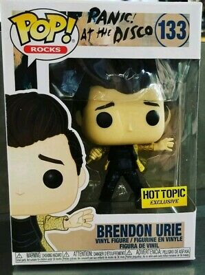 Funko Pop Brendon Urie Panic at the Disco Hot Topic Exclusive BRAND NEW IN HAND