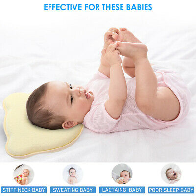 Baby Infant Newborn Memory Foam Bear Pillow Cushion Prevent Flat Head Sleep