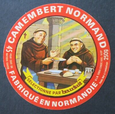 Etiquette fromage CAMEMBERT NORMAND BEURLAIT cheese label 17