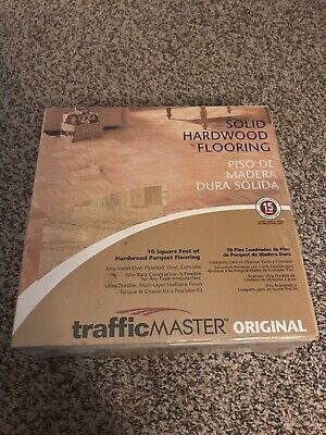 TRAFFIC MASTER  Hardwood Parquet Flooring Tiles 10 Square Feet Unopened New