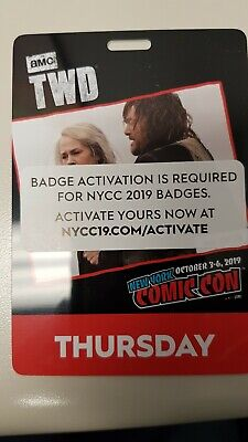 NYCC NEW YORK COMIC CON 2019 THURSDAY PASS activated