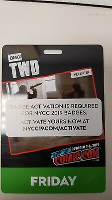 NYCC NEW YORK COMIC CON 2019 FRIDAY PASS activated