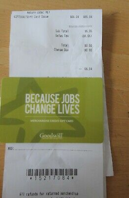 Goodwill Store Merchandise Gift Cards Total $66.04 - Free Shipping SEATTLE