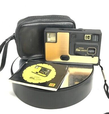 Vintage Kodak Disc 3500 Camera - Cased/In Great Working Condition #866
