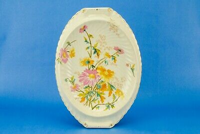 1880 Bread Plate Cheese Platter Large Serving Dish Bowl Floral Antique English