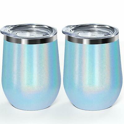 Wine Tumbler 12Oz Double Wall Vacuum Insulated Stainless Steel Stemless Unbreaka