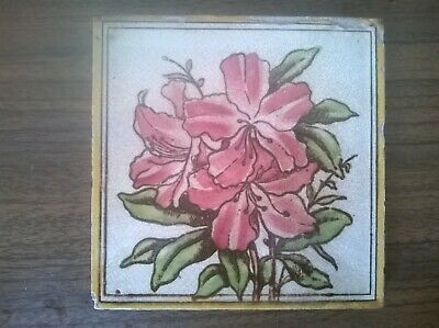 Victorian Transfer Print Art's And Crafts Tile Circa 1900
