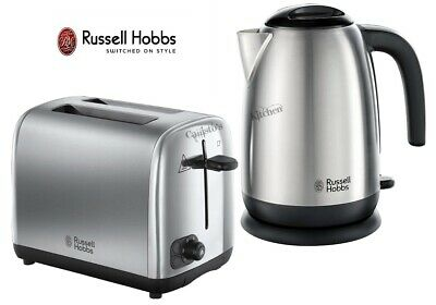 Russell Hobbs Adventure Kettle and Toaster Stainless Steel Kettle 2-Slot Toaster