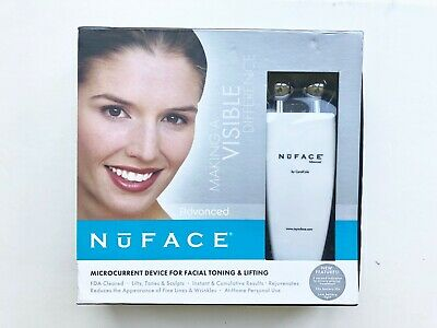 Nuface advanced By Carole Cole Facial Toning Device First Gen White Genuine