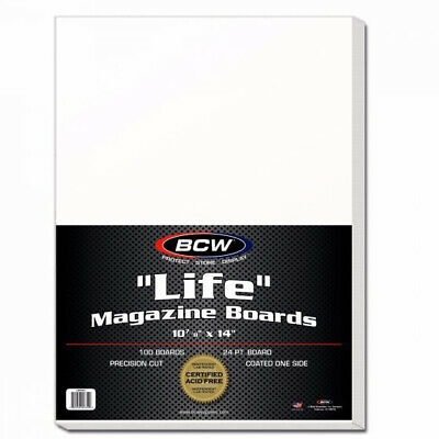 (500) BCW LIFE MAGAZINE or PROGRAM ACID FREE RESEALABLE BAGS & BACKING BOARDS