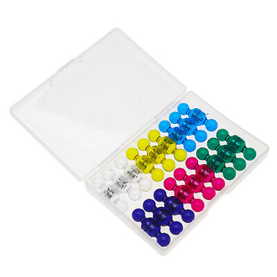Small Assorted Color Translucent Magnetic Push Pins 36 Pack neodymium magnet
