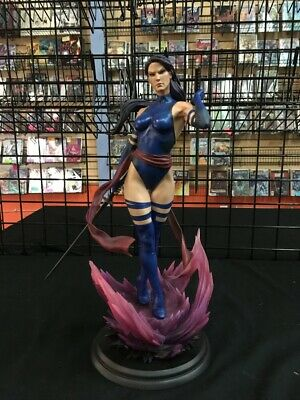 SideShow Psylocke Full Figured Statue With Swords